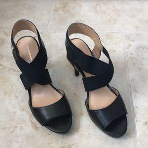 Liz Claiborne black open toe heels.  Size 6.5